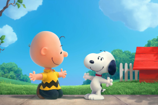 The Peanuts Movie with Snoopy and Charlie Brown sfondi gratuiti per cellulari Android, iPhone, iPad e desktop