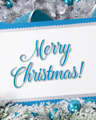 Merry Christmas Card Wallpaper for Nokia C5-06