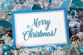 Merry Christmas Card Wallpaper for 1080x960