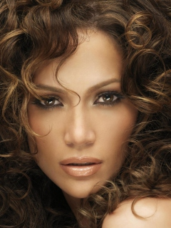 Screenshot №1 pro téma Jennifer Lopez With Curly Hair 240x320