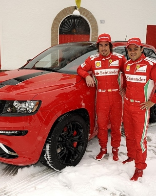 Jeep Grand Cherokee SRT8 Ferrari Edition sfondi gratuiti per iPhone 6 Plus