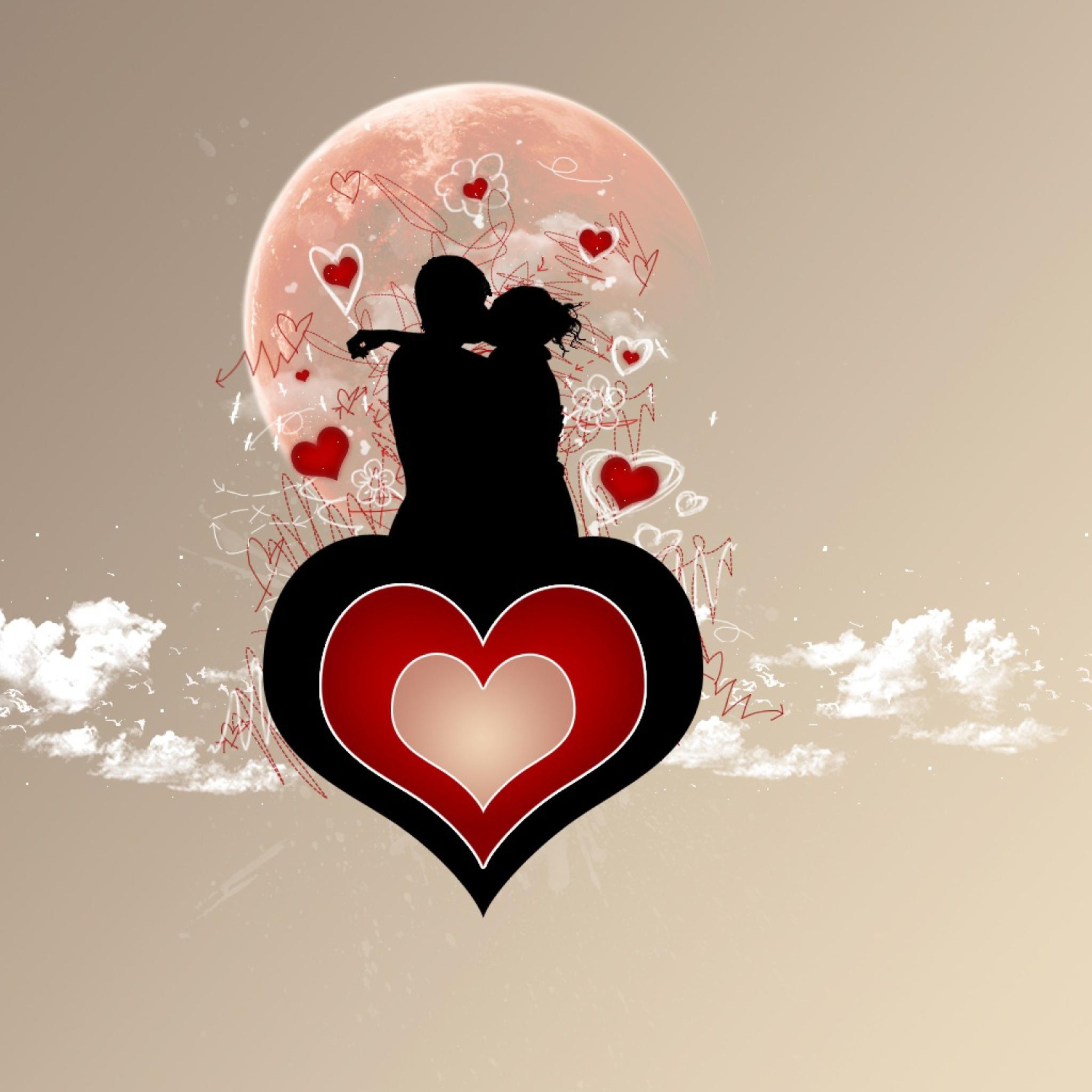 Картинки мужчина рисунок с сердечками