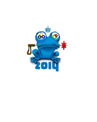 Sochi 2014 Funny Logo Wallpaper for Nokia Asha 311