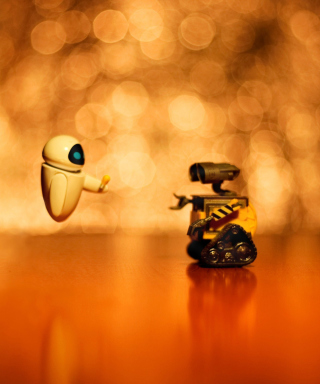 Wall E And Eve Background for 240x320