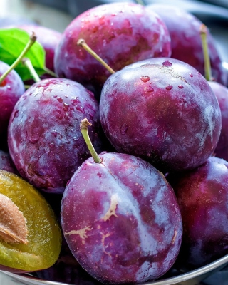 Plums with Vitamins Wallpaper for Nokia Asha 300