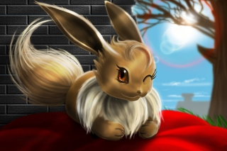 Eevee Pokemon Background for Android, iPhone and iPad