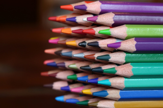 Crayola Colored Pencils Background for Android, iPhone and iPad