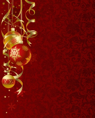 Red Xmas Ornaments Wallpaper for iPhone 6 Plus