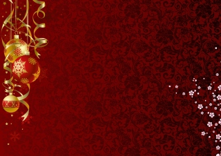 Kostenloses Red Xmas Ornaments Wallpaper für Android, iPhone und iPad