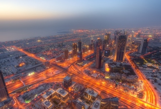 Dubai City Lights Background for Android, iPhone and iPad