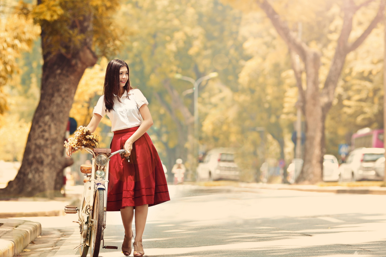девушка парень велосипед любовь бесплатно