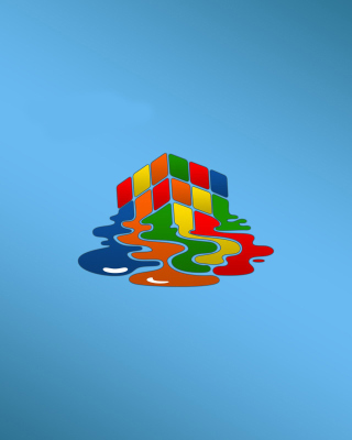 Rubiks cube puzzle Wallpaper for Nokia Asha 503
