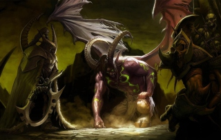 Illidan Stormrage - World of Warcraft Wallpaper for LG P700 Optimus L7