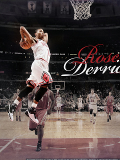 Derrick Rose NBA Star wallpaper 240x320