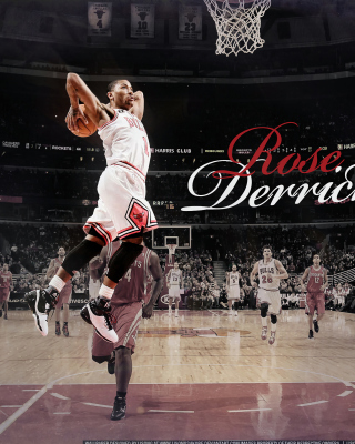 Derrick Rose NBA Star Wallpaper for Nokia Asha 306