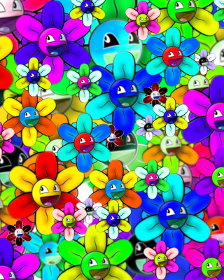 Bright flowers smiles Background for 240x320