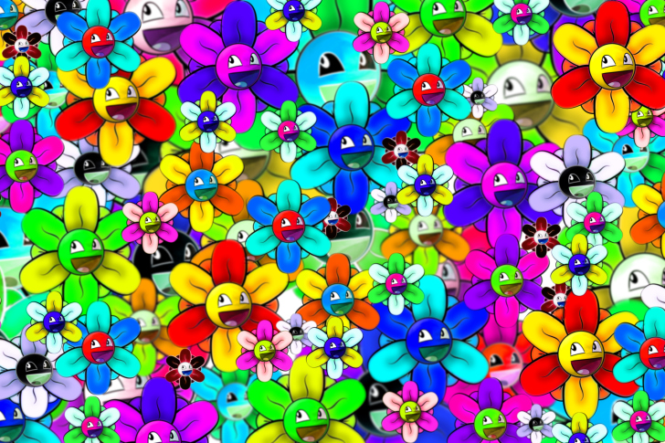 Bright flowers smiles wallpaper