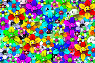 Bright flowers smiles Background for Android, iPhone and iPad