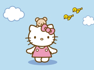 Screenshot №1 pro téma Hello Kitty & Friend 320x240