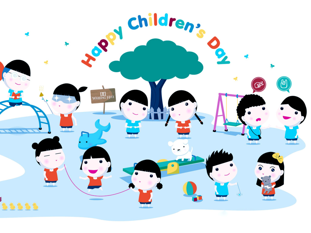 Screenshot №1 pro téma Happy Childrens Day on Playground 1024x768
