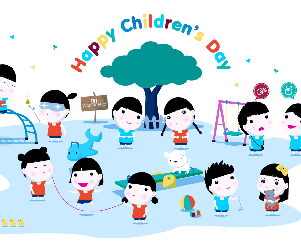 Screenshot №1 pro téma Happy Childrens Day on Playground 960x800