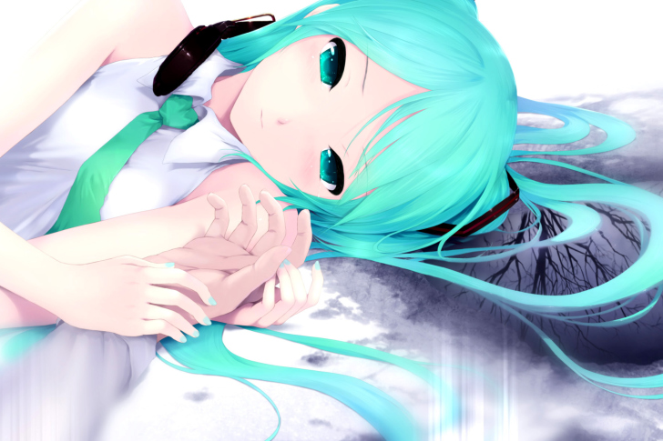 Humanoid Hatsune Miku from Vocaloid screenshot #1