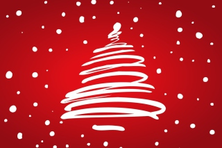 Merry Christmas Red Background for 1080x960
