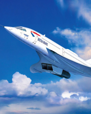 Concorde British Airways Background for 240x320