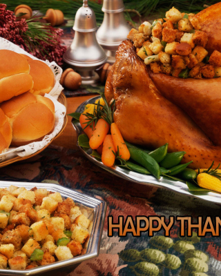 Happy Thanksgiving Wallpaper for Nokia Asha 306