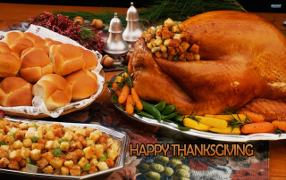 Happy Thanksgiving Background for 480x320