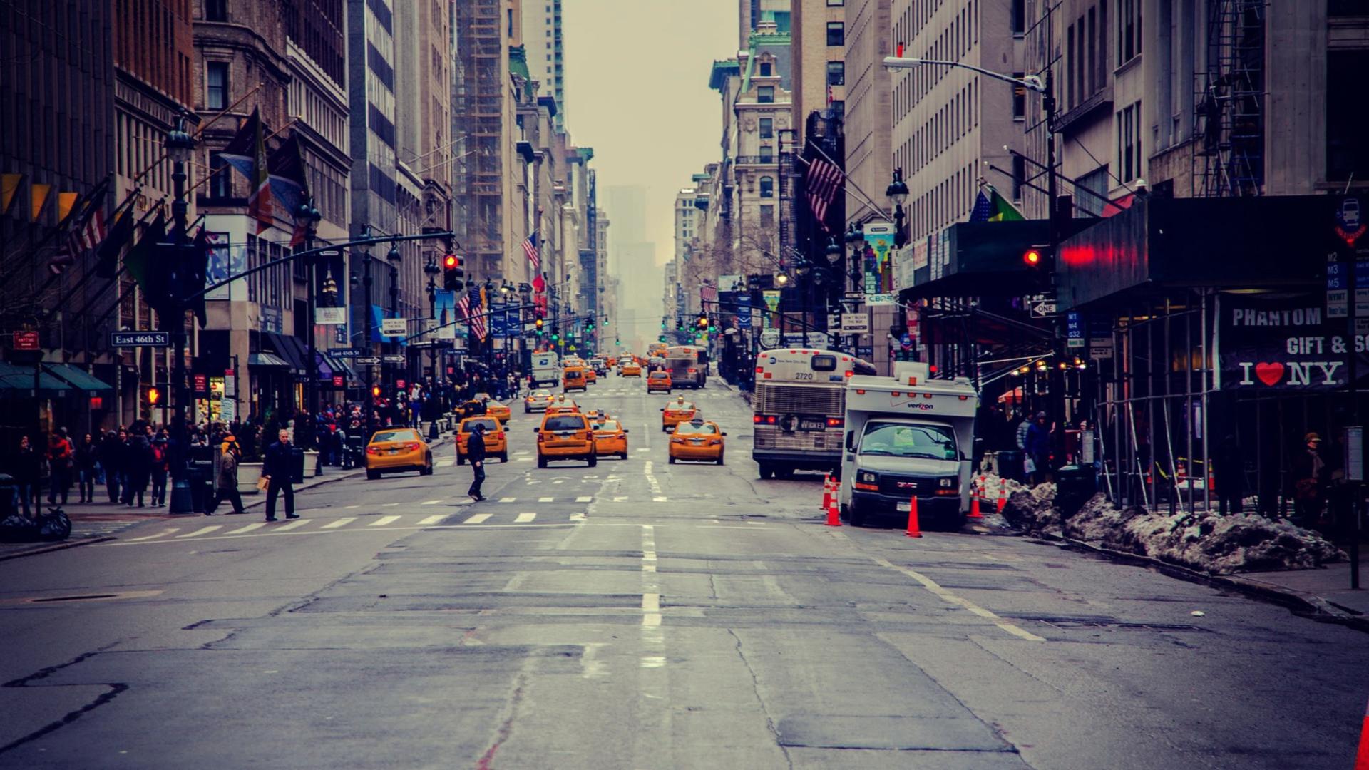 Обои new york city, машины, америка, улица, сша. Города foto 11