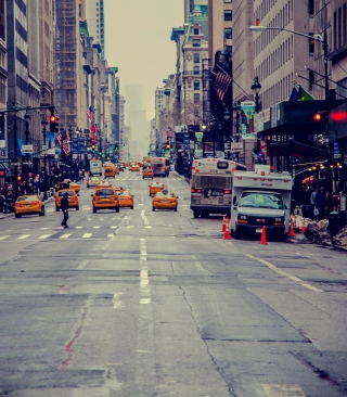 New York City Usa Street Taxi Wallpaper for 240x320