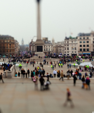 Tilt Shift London Background for iPhone 5