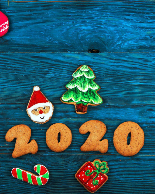 2020 New Year Background for 480x800