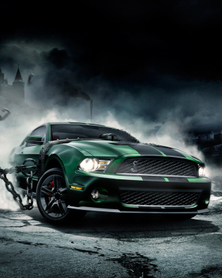 Free Mustang Monster Picture for iPhone 6 Plus