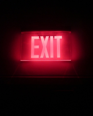 Neon Exit Picture for iPhone 5S
