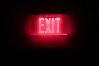 Neon Exit Background for Fullscreen Desktop 1600x1200