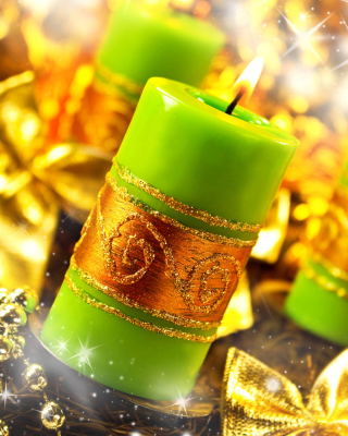 Kostenloses Christmas Candles & Accessories Wallpaper für Nokia Asha 308