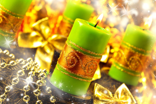 Christmas Candles & Accessories Wallpaper for Android, iPhone and iPad