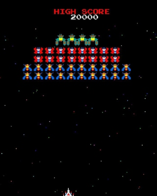 Galaxian Galaga Nintendo Arcade Game Background for Nokia C1-01