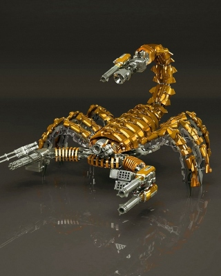Steampunk Scorpion Robot Wallpaper for Nokia Asha 503
