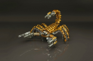 Steampunk Scorpion Robot Background for Android, iPhone and iPad