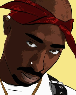 2Pac Smile Background for Nokia C-5 5MP
