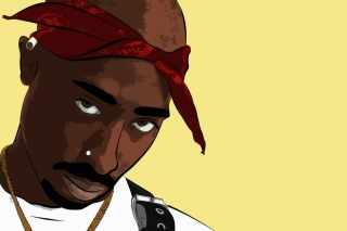 2Pac Smile Wallpaper for Android 480x800