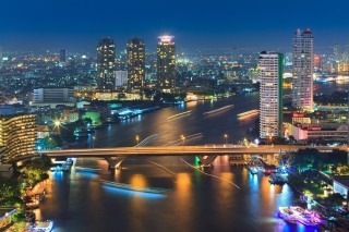 Bangkok and Chao Phraya River Wallpaper for Android, iPhone and iPad