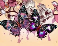 Butterflies para 220x176