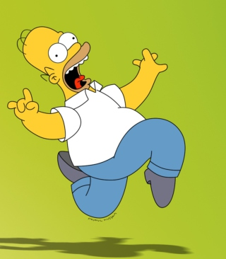 Homer Simpson Background for iPhone 6 Plus