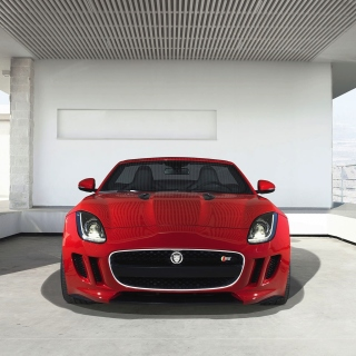 Jaguar F Type in Parking sfondi gratuiti per iPad mini