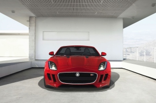 Jaguar F Type in Parking Wallpaper for HTC Desire HD