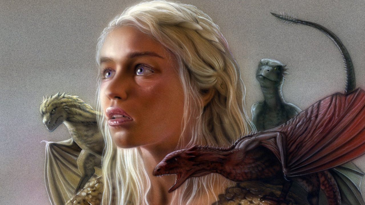 Das Emilia Clarke as Daenerys Targaryen Wallpaper 1280x720